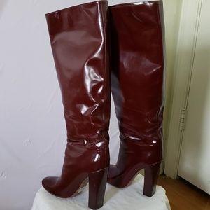 Chloe Shoes - Chloè High Boots in Burgundy (10)